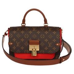 2019 Louis Vuitton Coquelicot, Brown Leather & Brown Canvas Vaugirard