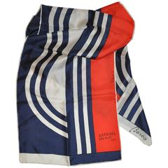 Besco for Raphael alta moda Red White & Blue Rectangle Scarf