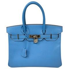 Hermes Birkin 30 Blue Paradis Bag