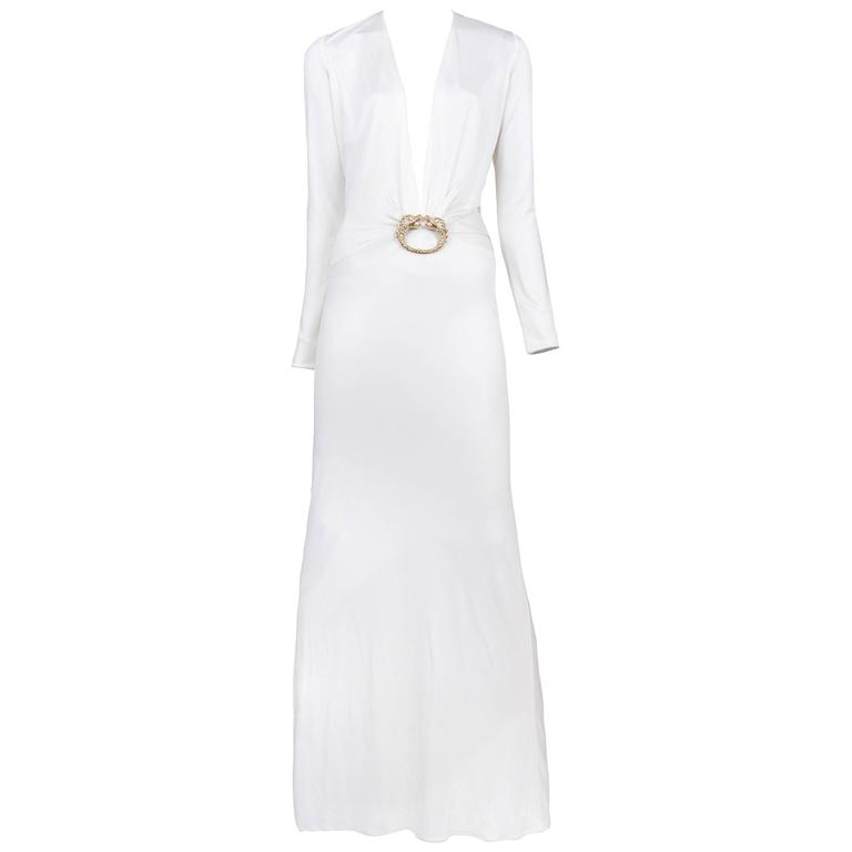 94ed415a7e6 Gucci White Cut Out Gown at 1stdibs