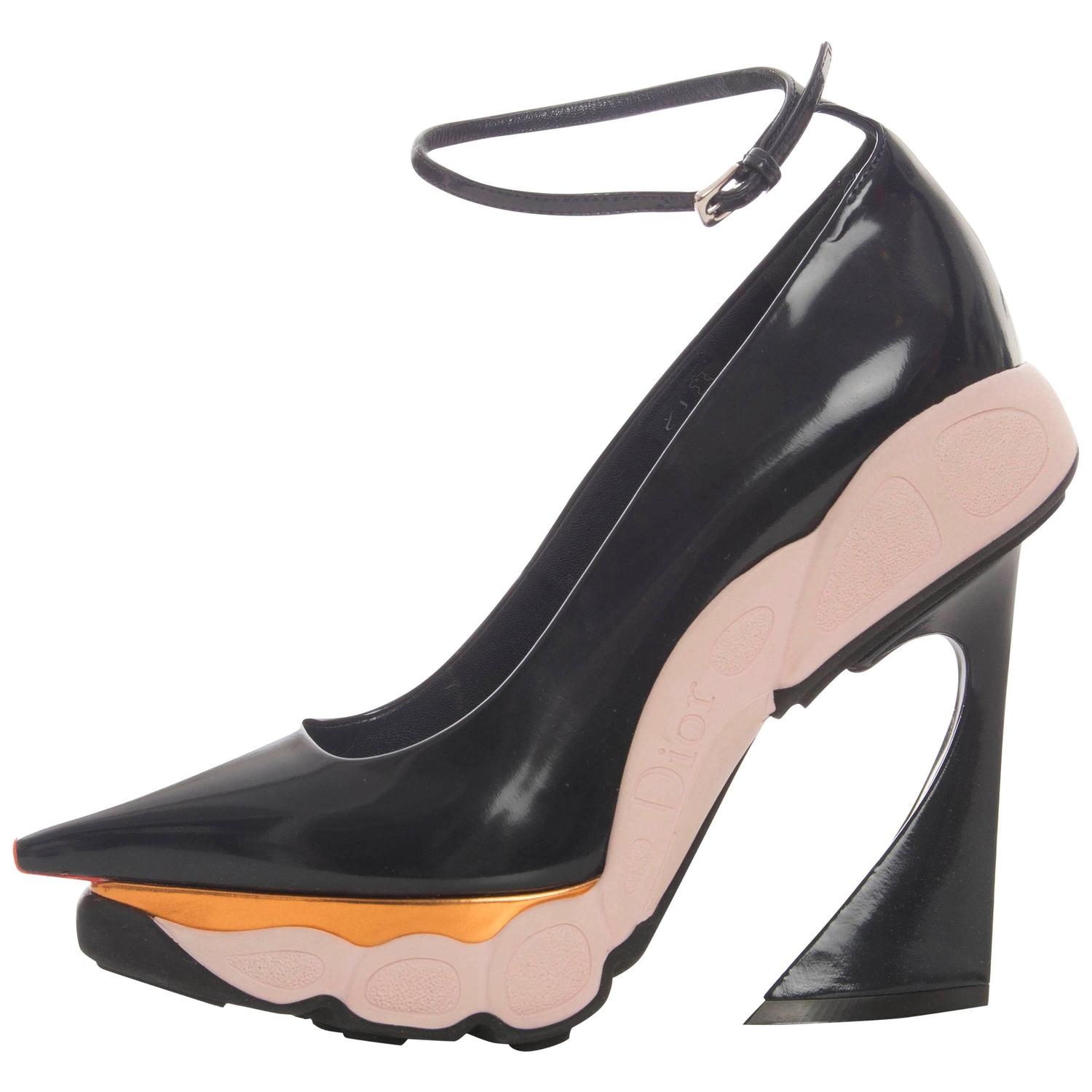 995918e44f4 Christian Dior By Raf Simons Patent Leather Runway Sneaker Pumps Fall 2014  at 1stdibs