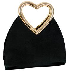Moschino Vintage Heart Handle Bag