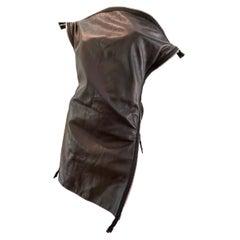 2008 F/W Martin Margiela Leather Zipper Top or Mini Dress