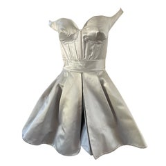 Claude Montana Vintage Silver Corset Dress in Met Museum Collection