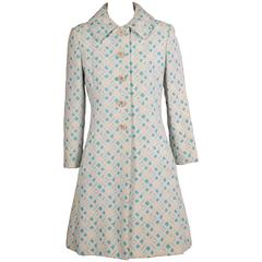 1960's Ceil Chapman Matelasse Coat & Dress