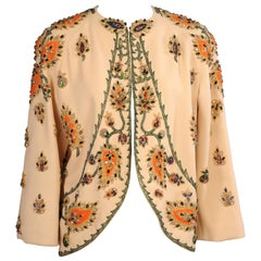 Bob Bugnand Beaded Wool Crepe Evening Jacket