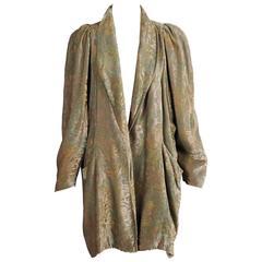 1920's Fortuny Style Stenciled Silk Velvet Evening Jacket