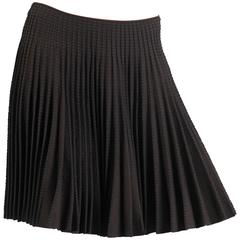 Alaia Chocolate Ra-Ra Skirt