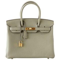 Hermes Birkin 30 Bag Sage Clemence Gold Hardware