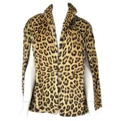 1940s Stunning Leopard Fur Print Swing Cape