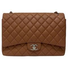 Chanel Pink Leather Maxi Jumbo Bag