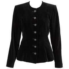 Gorgeous Saint Laurent Black Velvet Jacket