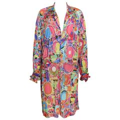 Chanel Multi Coloured Floral Silk Jersey Dress