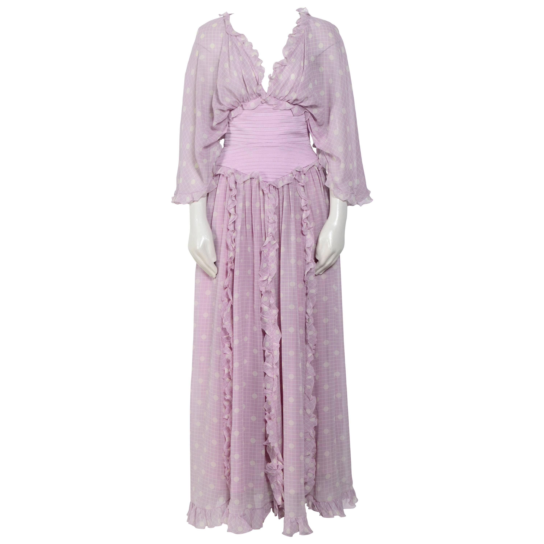 Vintage Valentino gorgeous 1970s silk boho dress