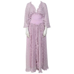 Vintage Valentino gorgeous 1970s silk boho dress