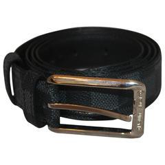 Louis Vuitton Black Leather Damier Graphic Print Belt - 40