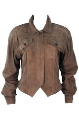 GUCCI Brown Suede Jacket Size 40