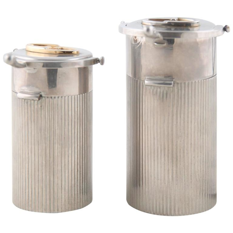 GUCCI Italian VINTAGE Silver metal TABLE LIGHTER and ...