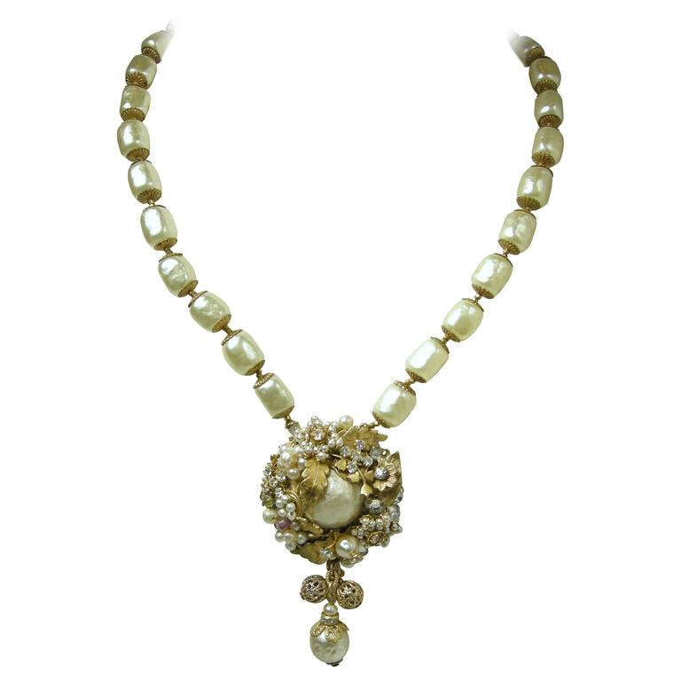 Vintage miriam haskell large sized pearl pendant necklace for sale vintage miriam haskell large sized pearl pendant necklace for sale mozeypictures Gallery