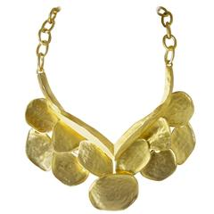 Kenneth Jay Lane Golden Wing Bib Necklace