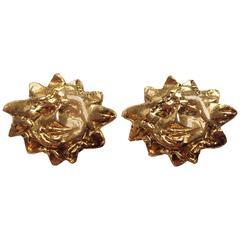 Hermes Vintage Clip-On Sun Earrings