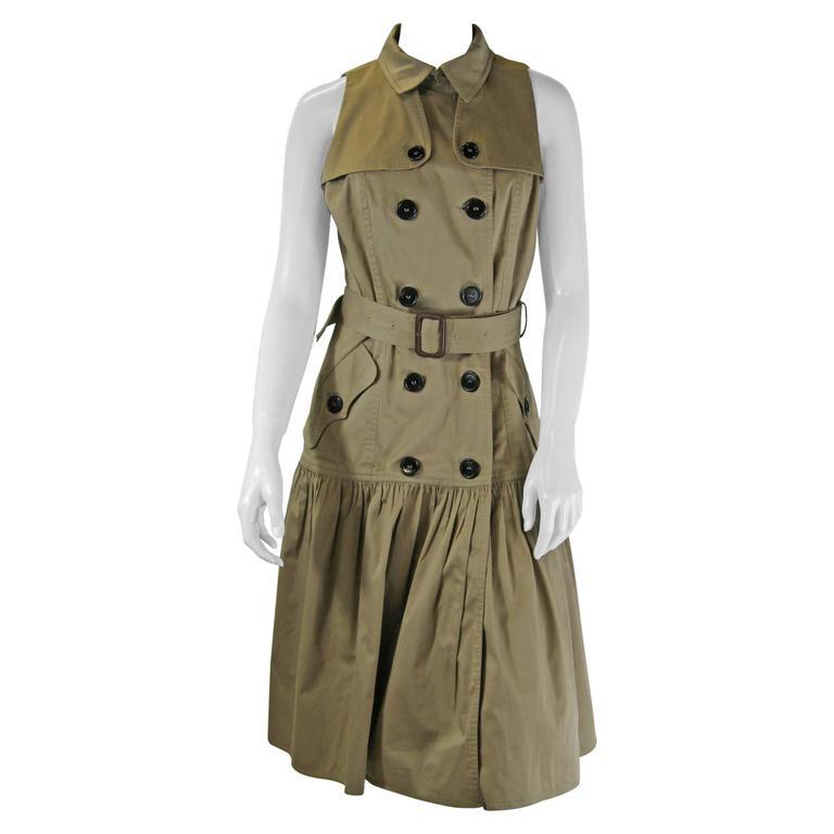 Burberry Sleeveless Trench Coat Dress At 1stdibs