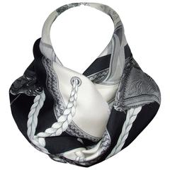 Hermes Vintage Silk Scarf Grand Apparat Horses Jacques Eudel 90 cm