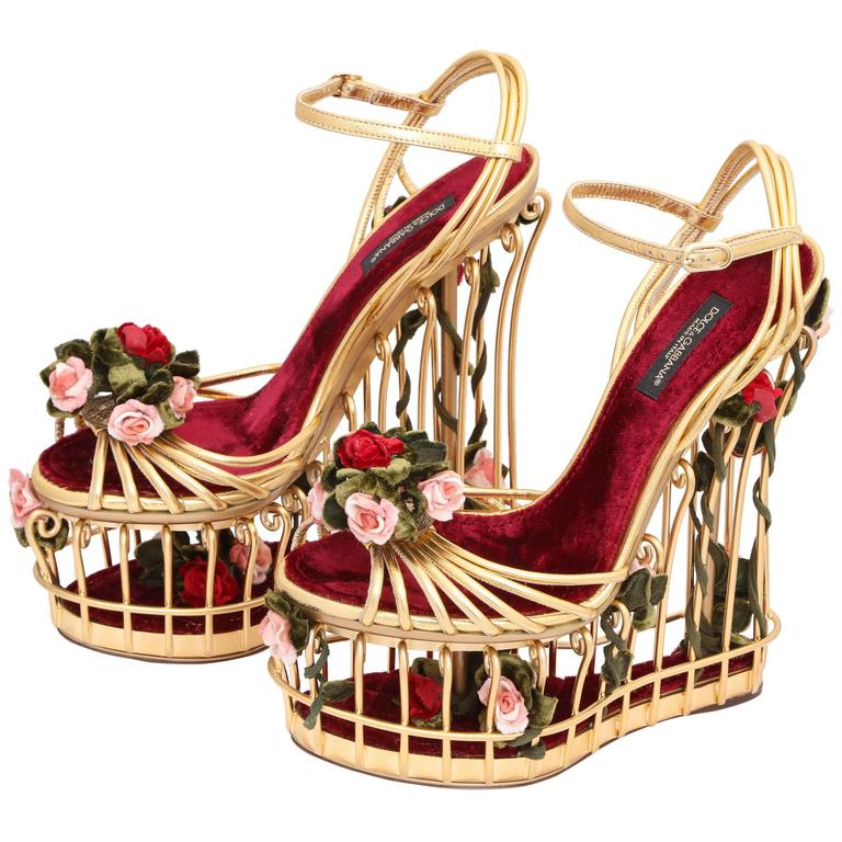 74cb7c2d753 Very rare Dolce and Gabbana Runway Cage Heel Shoes Piece of Art! at ...