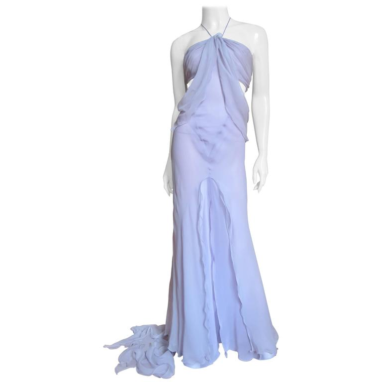 Krizia Lavender Runway Ethereal Gown