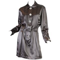 Chanel Boutique Luxe Satin Shirt Dress