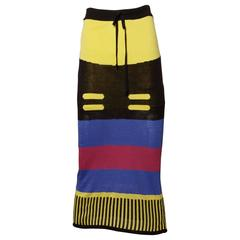 Vivienne Westwood Striped Color Block Knit Skirt
