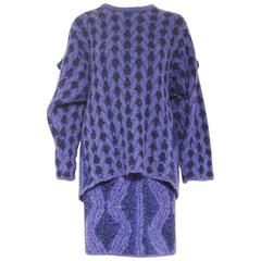 Issey Miyake Multi-Print Top & Skirt Set