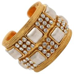 Chanel Gold/Ivory Embellished Cuff
