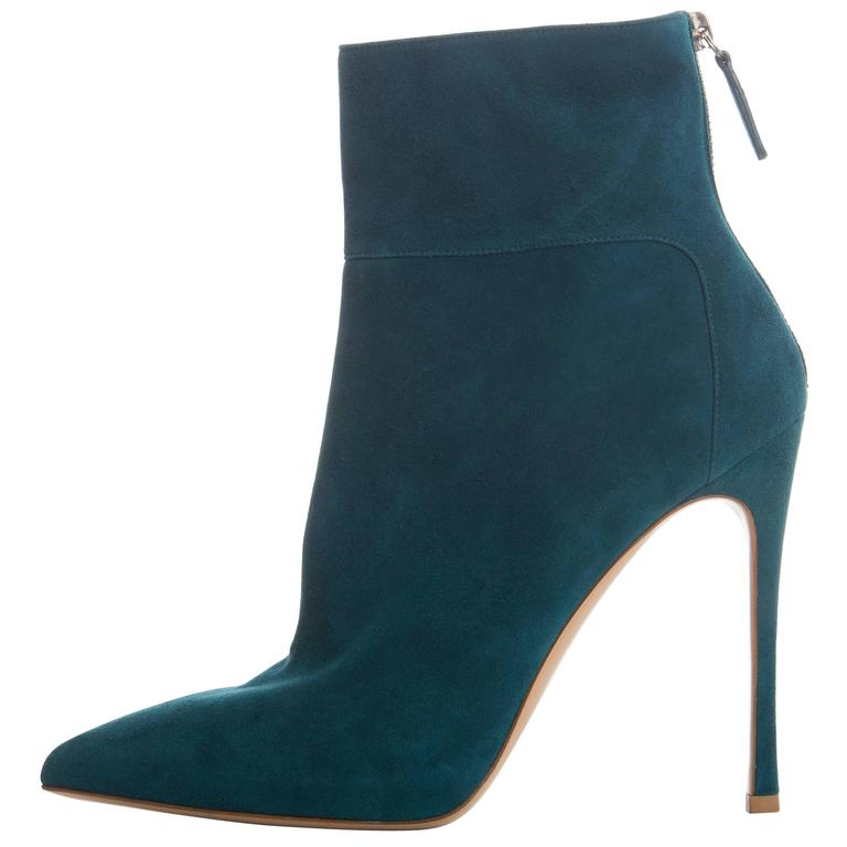 Gianvito Rossi Suede Bootie For Sale