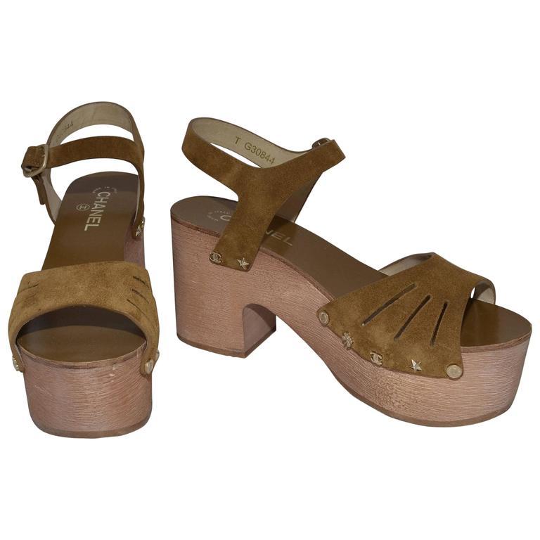 Chanel 2015 Spring Platform Sandals sz 40 1