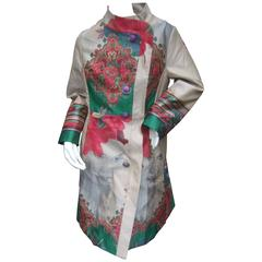 Exotic Tapestry Floral Print Spring Coat