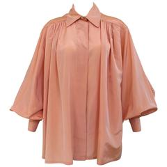 90s Christian Dior by Gianfranco Ferre bishop sleeve silk blouse