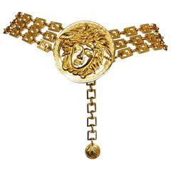 Versace Gold Medusa Belt