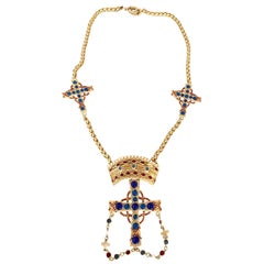 Gianni Versace by Ugo Correani Triple cross pendant necklace, 1980s