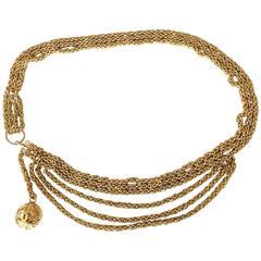 1980s CHANEL chain belt