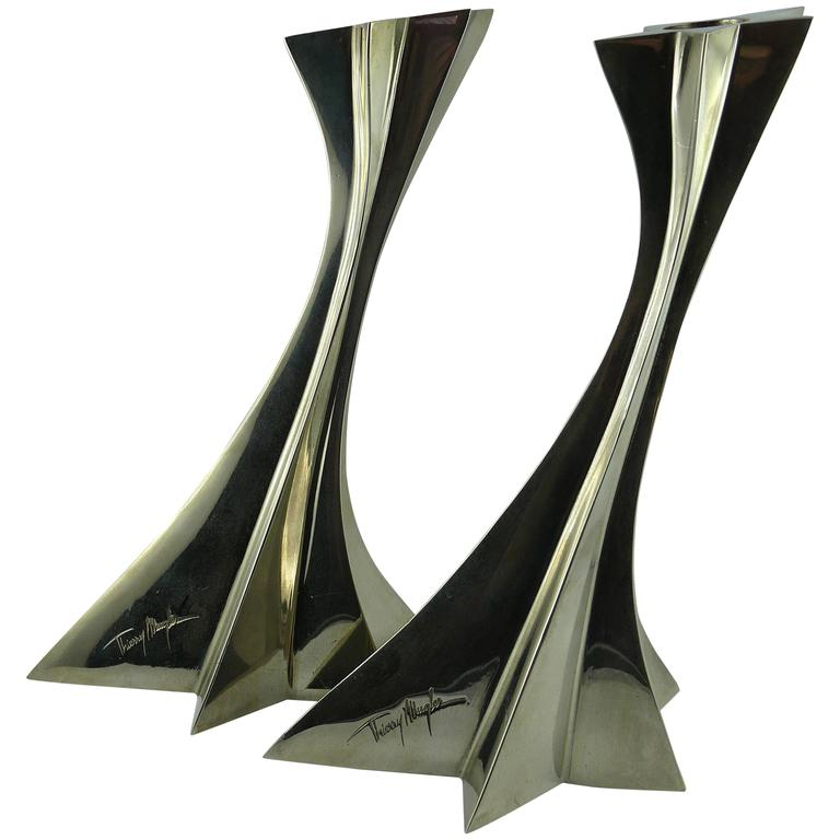 Thierry Mugler Massive Futuristic Shooting Star Candelsticks