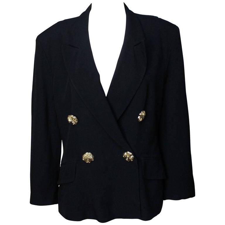 Moschino Black Blazer 1991 Spring Collection For Sale