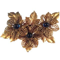 Joseff Of Hollywood Large 1940s Floral Brooch