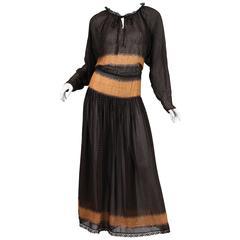1970s Oscar De La Renta Boho Dress