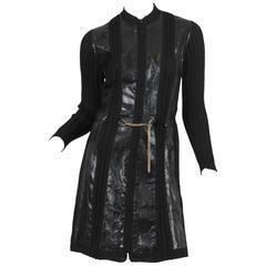 Alaia Snakeskin Coat