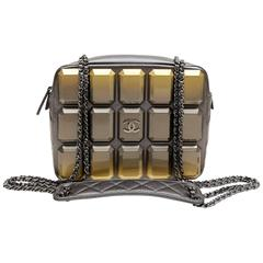 Chanel Pewter Evening Art Flap Camera Bag- Runway 2014