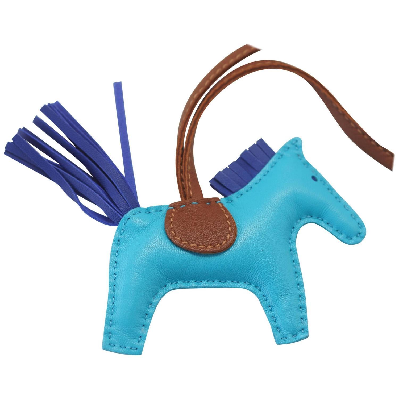 f4d35708e51 ... wholesale hermes rodeo bag charm pm bleu aztec horse new at 1stdibs  ef89c 5f3d5