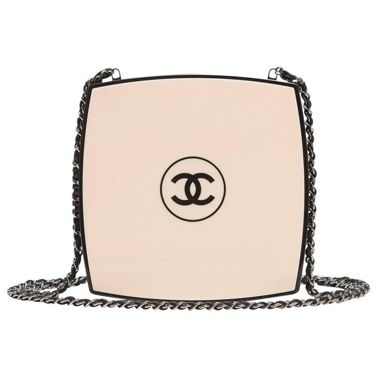 Chanel White Compact Powder Minaudiere 1