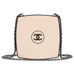 Chanel White Compact Powder Minaudiere NEW
