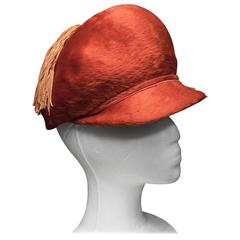 1960s Red Mod Hat with Tassel